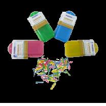 Cunha de Madeira colorida c/ 100 unids - Pharma